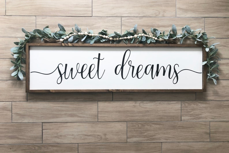 Sweet Dreams Sweet Dreams Wooden Sign Wooden Sign Bedroom Decor Bedroom Sweet Dreams Decor
