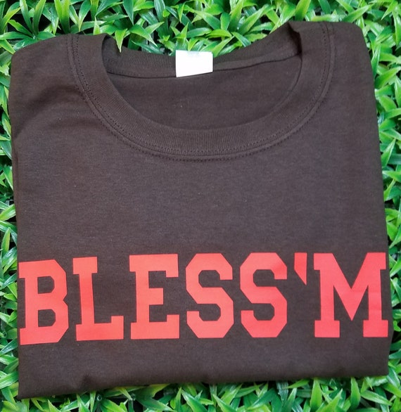 new style 3734f 51aff Jarvis Landry Cleveland Browns Bless' M jersey t-shirt Browns Gear football  fan funny t-shirt