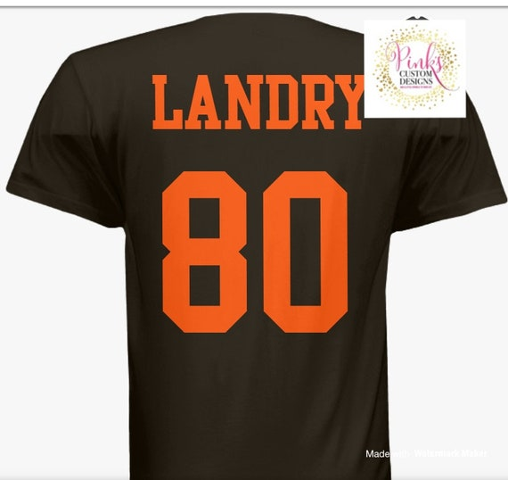 new style d8600 bbd0c Jarvis Landry Cleveland Browns Bless' M jersey t-shirt Browns Gear football  fan funny t-shirt
