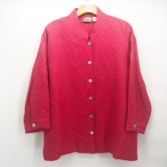 Vintage Chico's design silk paisley blouse