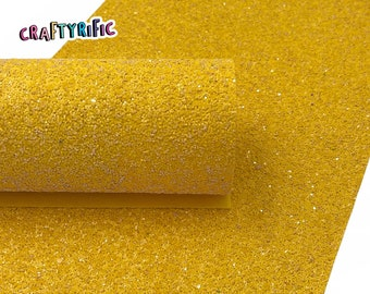 Sunflower Yellow Chunky Glitter Sheets, Red Chunky Glitter, Glitter Canvas Sheet, Canvas Fabric for Bows