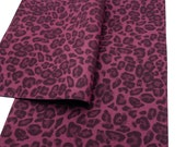 MAROON LEOPARD Suede Sheet, Suede Material for Hair Bows and Crafts