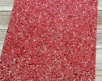Frosted Red Chunky Glitter Fabric Sheet, Faux Leather Sheets, Glitter Fabric Sheet, 8x11 Faux Leather, DIY Hair Bows, DIY Earring