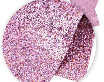 Pink and Orange Chunky Glitter Sheet, Faux Leather Sheets, Vinyl Fabric Sheet, Faux Leather, DIY Hair Bows, DIY Fabric Teardrop Earrings