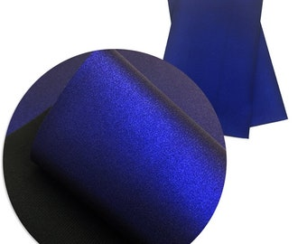 Smooth Cobalt Blue  Metallic Faux Leather Sheets, Faux Leather Sheets, Fabric Sheet, Faux Leather, Metallic Smooth Fabric, Hair Bows DIY