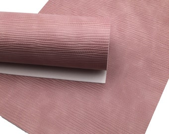 1208 Leather for Earrings Textured Faux Leather MAUVE PURPLE WAVY Texture Faux Leather Sheets Material for Hair Bows