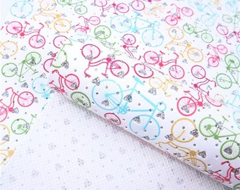 BIKES Glitter Hearts Faux Leather Sheets, .70 thick Faux Leather, 7.5x13 Faux Leather, Material for Hairbows and Earrings