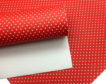 8b61943eb76 RED   WHITE Small Polka Dot Faux Leather Sheets
