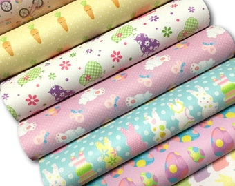 EASTER Faux Leather Sheets, Faux Leather Sheet, Fake Leather Sheets, Leather for Earrings, Hair Bow Material