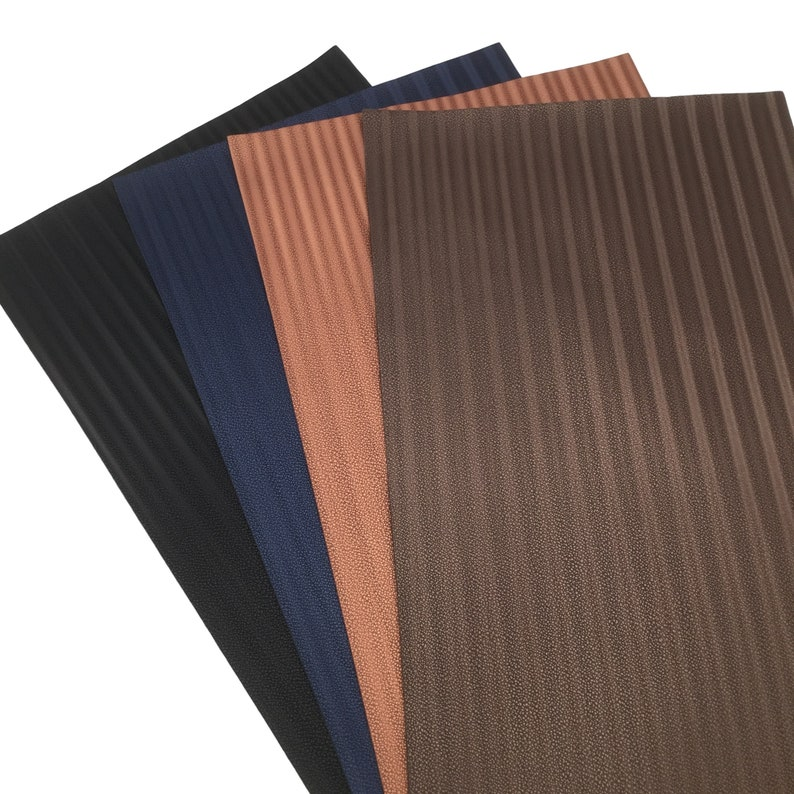 Faux Leather Sheets BROWN LUXE STRIPES Faux Leather Sheets Hair Bow Material Leather for Earrings 458