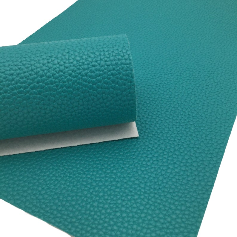 TEAL BLUE Faux Leather Sheets, PU Leather, Leather for Earrings photo