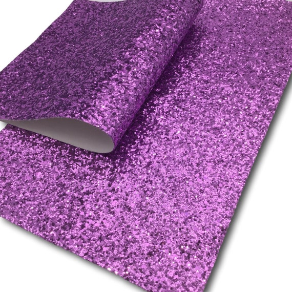 New Premium chunky glitter canvas sheets in Purple/'s Blue/'s and  White,-Chunky glitter faux Synthetic glitter leather Pink/'s