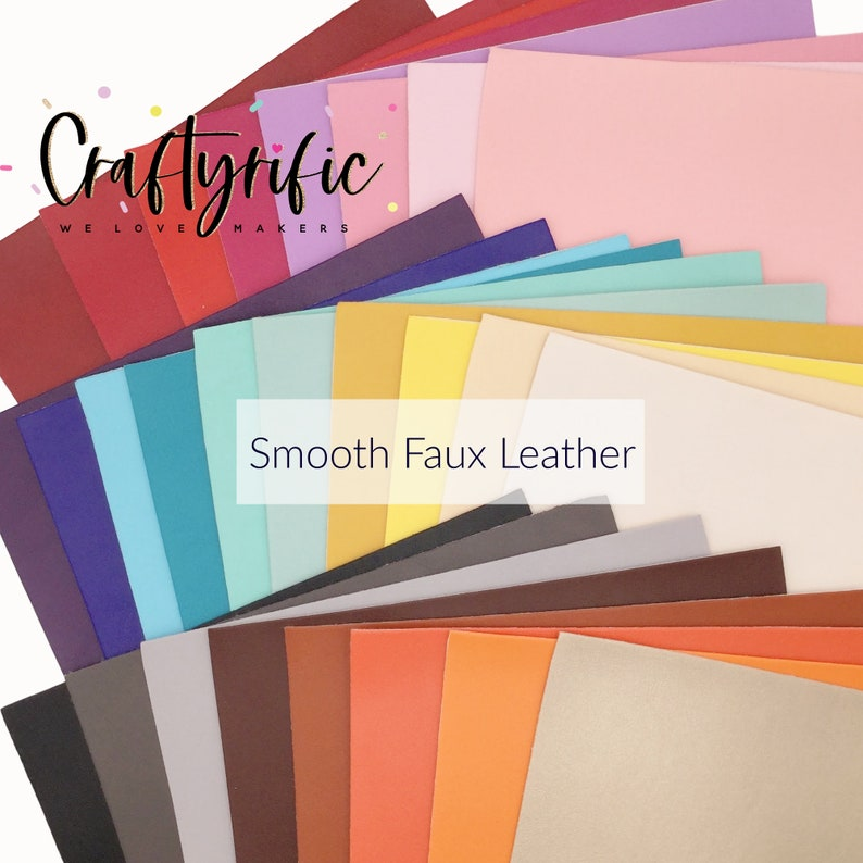 SMOOTH FAUX LEATHER Sheets, Leather for Earrings, A4 Fabric Sheet, Textured Leather photo