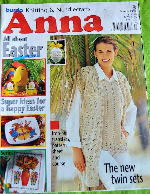Burda Anna Magazine Knitting Patterns Crochet Magazine Crafts Magazine Anna Creative Needlework and Crafts Magazine Knitting Magazine