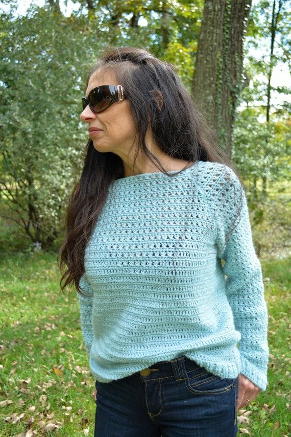Crochet Pattern Celeste Crochet Sweater Sweater Crochet Etsy