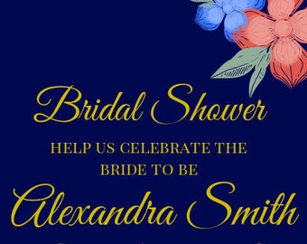 Navy and Floral Bridal Shower