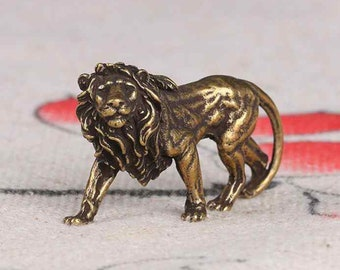 Antique Solid Brass Hand Carved Lion Statue, home decoration ,antique collection