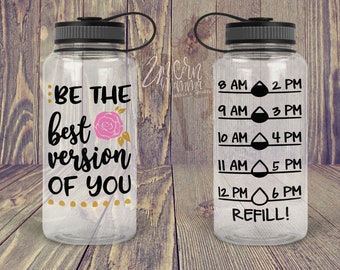 Water Bottle,Drink tracker STICKER DECAL Only gym weight loss fit Wedding