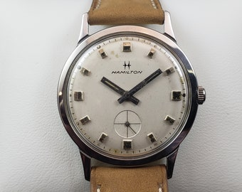 ef693ce88 1968 Hamilton THINLINE 5003 Vintage Watch - Stainless Steel, 17j, Manual,  Serviced May 2019