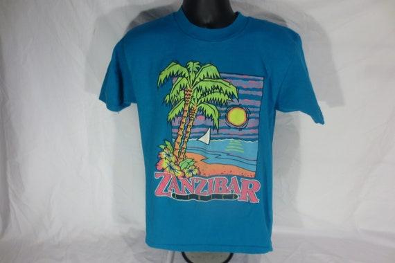 Vintage - Oneita - Zanzibar Africa t-shirt - Size