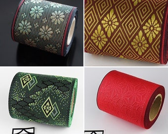 4 set of Japanese jacquard ribbon, 5M roll, durable, handmade material