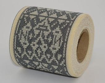 Japanese jacquard ribbon, 5M roll, durable, handmade material, ethnic pattern, monkey motif