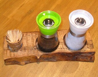 Spice rack, spice mill, Wood