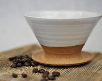 Ceramic Coffee Pour-Over | Modern Rustic Stoneware