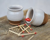 Ceramic Cup Toothpick Matchstick and or Succulent Stoneware Holder