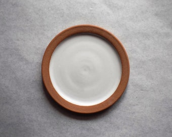 Modern Rustic Dinnerware | Farmhouse Plate | White Stoneware | Ceramic Plate | Farmhouse Dinner Plate