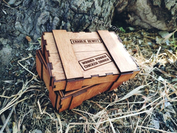 Personalized Pubg Gift Box Winner Winner Chicken Dinner Pubg Gift Box Pubg Gift For Him Pubg Crate Personalized Comb Pubg Party