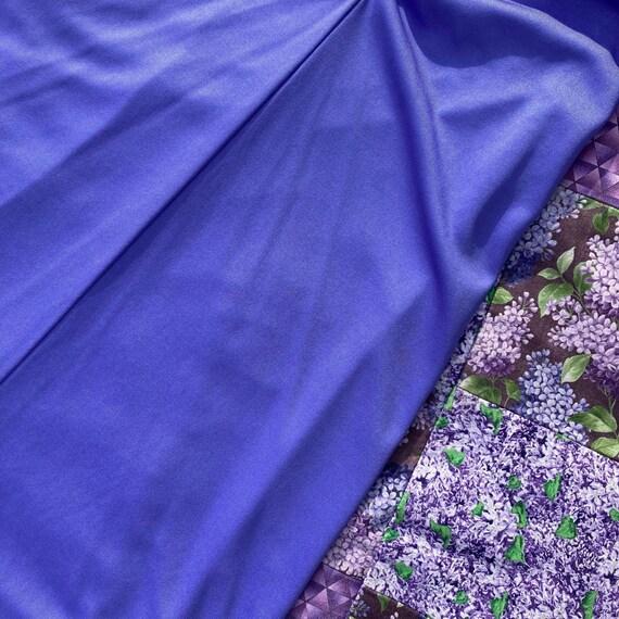 vtg vintage maxi long dress 1970s cottage  purple… - image 7