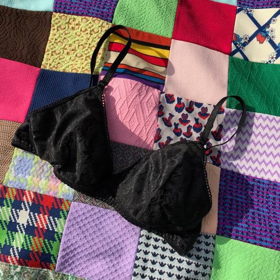 Vintage vtg  36 A black bra made in USA 90s 80s li