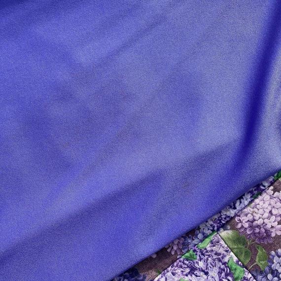 vtg vintage maxi long dress 1970s cottage  purple… - image 8