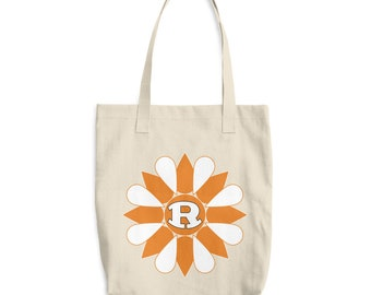 Rockwall Rockin R Flower Cotton Tote Bag