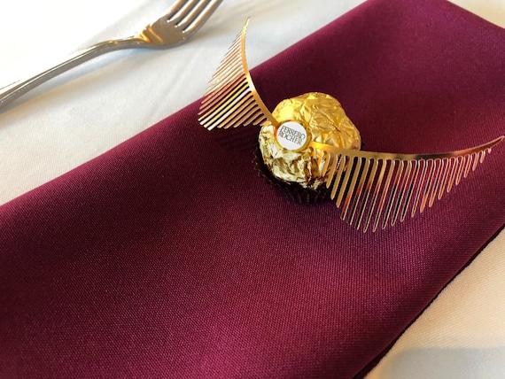 10 Paar Goldene Schnatz Flügel Für Hochzeit Gefälligkeiten Keine Schokolade Gemacht Für Ferrero Rocher Goldene Schnatz Gefälligkeiten Themen