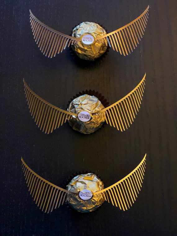 photo relating to Golden Snitch Wings Printable named 10 pairs of Golden Snitch WINGS for Marriage ceremony Favors (NO CHOCOLATE) Developed for Ferrero Rocher Golden Snitch Favors Themed Favorsx