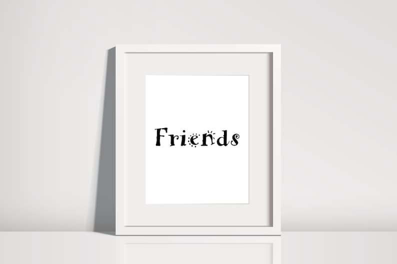 Best Selling Items Friends Home Décor Art Print Friendship Etsy