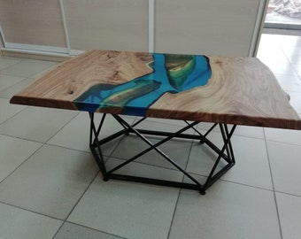 River Coffee Table Etsy - Topographic coffee table