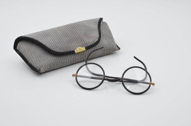 e139ad81a8da Vintage 60s 70s Round Black Frame Eye Glasses Eyewear Harry
