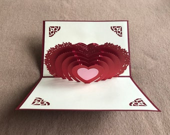 My Heart to You 3D Blank Card