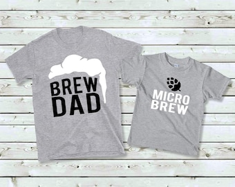 be7bf3d7cb Matching Fathers Day Shirts, Fathers Day Shirt, Brew Dad Micro Brew Shirt,  Father Son Shirts, Fathers Day Gift, Beer Shirt