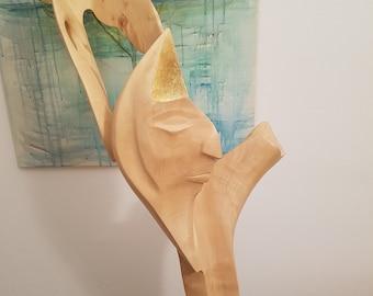 Sculpture made of Birch wood