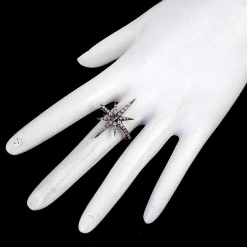 1 Pc Pave Diamond Ring 925 Sterling Silver Art Deco Celestial Ring,Sapphire /& Diamond Ring Womne Wedding Gift Ring Engagement Diamond Ring