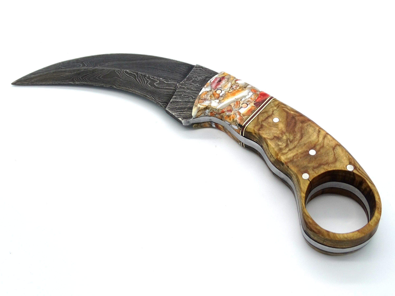 Vintage Large Lot of 8 Wood Handle Kitchen Knives w