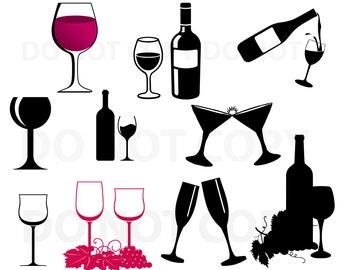 wine bottle svg etsy rh etsy com Wedding Bells Clip Art Wedding Bouquet Clip Art