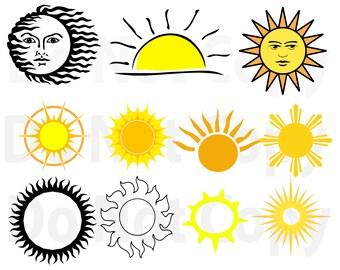 Sun svg | Etsy