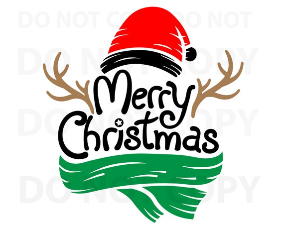 Christmas Quotes Svg.Merry Christmas Svg Quotes Svg File For Cricut Saying Vector Art Christmas Hat Scarf Png Dxf Esp Merry Christmas Antlers Sayings Svg