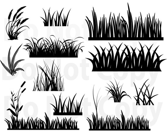 Grass Svg Bundle Grass Field Svg File For Cricut Grass Etsy