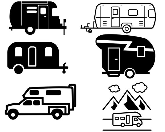Camper Svg Bundle Mobile Home Vector Camper Svg File For Etsy